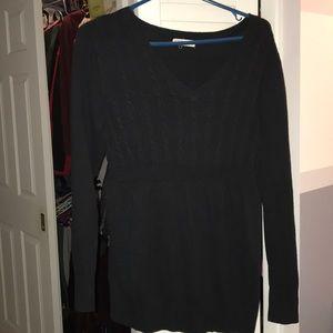 Liz Lange maternity black sweater size medium
